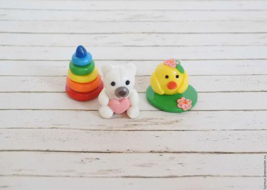 Миниатюра ручной работы. Ярмарка Мастеров - ручная работа. Купить Игрушки для кукол из полимерной глины. Handmade. Миниатюра, миниатюрный мишка