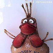 Куклы и игрушки ручной работы. Ярмарка Мастеров - ручная работа Кофейный Петушок-золотой гребешок. Handmade.