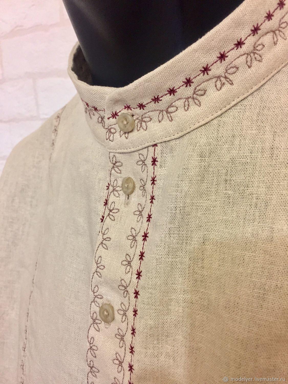 мужская рубаха Лён, Рубашки, Москва,  Фото №1