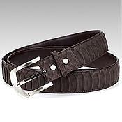 Аксессуары handmade. Livemaster - original item Belt of textured Matt Python leather. Handmade.
