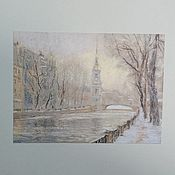 Картины и панно handmade. Livemaster - original item Picture (graphics) pastel - Nikolsky Cathedral in St. Petersburg. Handmade.