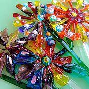 Для дома и интерьера ручной работы. Ярмарка Мастеров - ручная работа Декор из стекла в цветочный горшок-фьюзинг. Handmade.