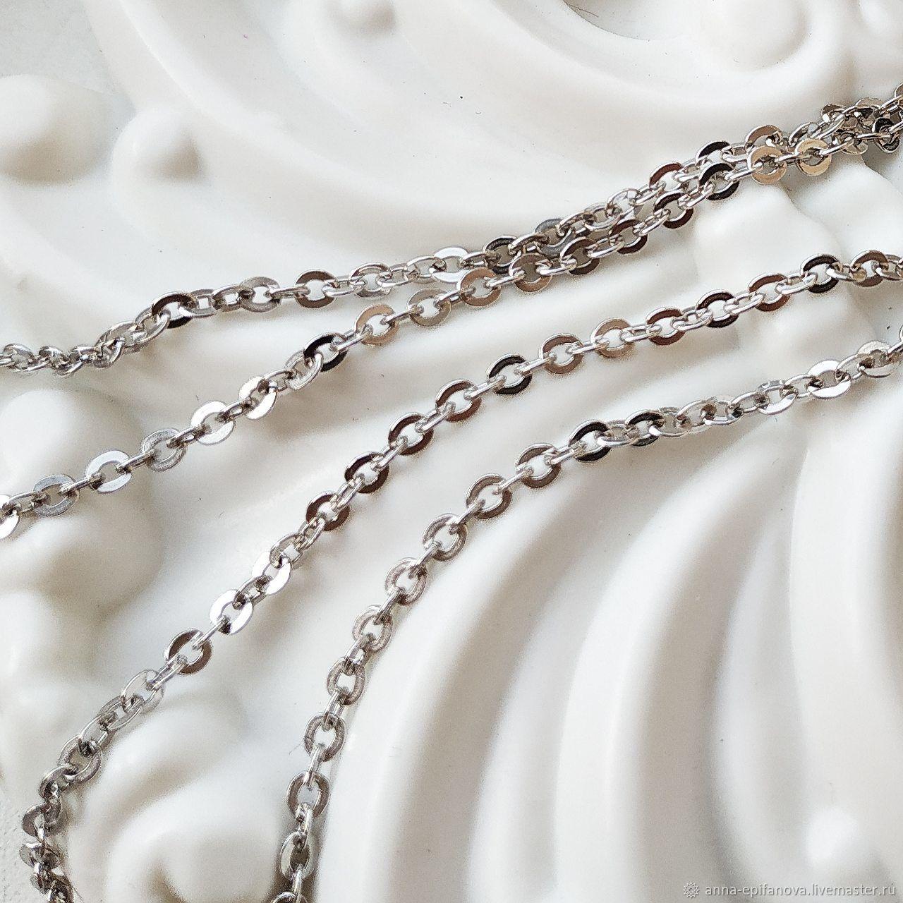 50 cm chain 'Anchor', silver (art: :039d.0.50. ), Chain, Chelyabinsk,  Фото №1