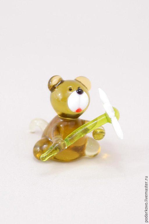 Подарки для влюбленных ручной работы. Ярмарка Мастеров - ручная работа. Купить Мишка с ромашкой. Handmade. Золотой, игрушка, мишка