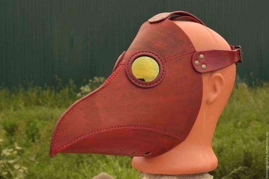 маска, маска из кожи, маска чумного доктора, чумной доктор