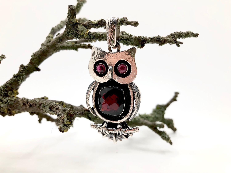 Pendant ' Owl ' with grenades, Pendants, Feodosia,  Фото №1