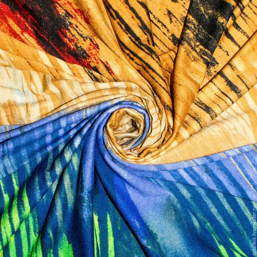 Шитье ручной работы. Ярмарка Мастеров - ручная работа. Купить 1,5 Трикотаж вискозный ЯРКИЙ РИСУНОК,Италия, Etro. Handmade.