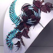 Украшения handmade. Livemaster - original item The night wind of the desert. The jewelry set. Necklace, brooch.. Handmade.