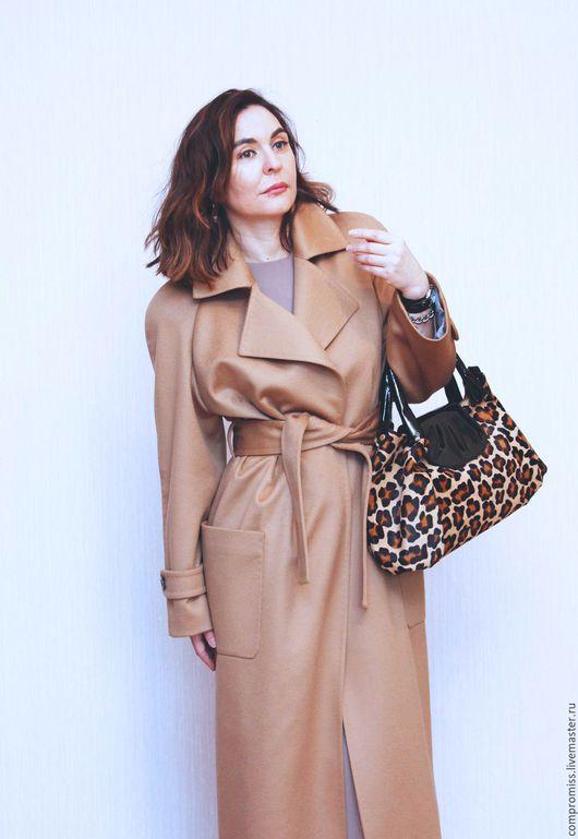 Верхняя одежда ручной работы. Ярмарка Мастеров - ручная работа. Купить пальто из кашемира Camel. Handmade. Коричневый, индивидуальный пошив