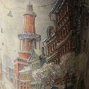 Для дома и интерьера ручной работы. Ярмарка Мастеров - ручная работа Ваза для цветов Петербург Стекло Городской пейзаж. Handmade.