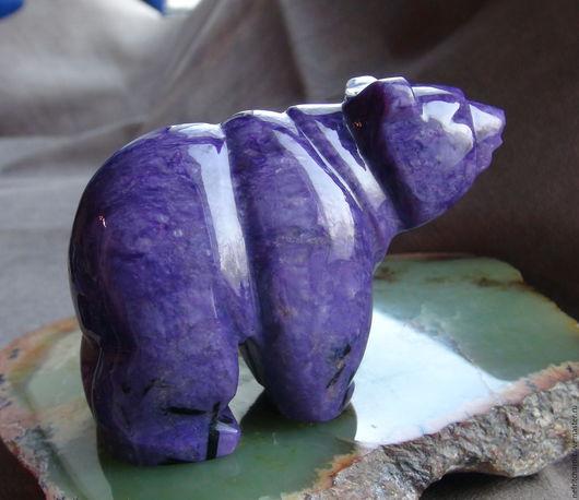 Статуэтки ручной работы. Ярмарка Мастеров - ручная работа. Купить Медведь чароит. Handmade. Медведь чароит
