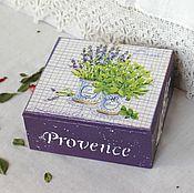 Для дома и интерьера handmade. Livemaster - original item Box box Lavrushina herbs decoupage lilac. Handmade.
