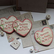 Свадебный салон ручной работы. Ярмарка Мастеров - ручная работа Сердце-Магнит-Приглашение-Свадьба. Handmade.
