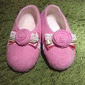 Обувь ручной работы. Ярмарка Мастеров - ручная работа Тапочки Розовые розы. Handmade.