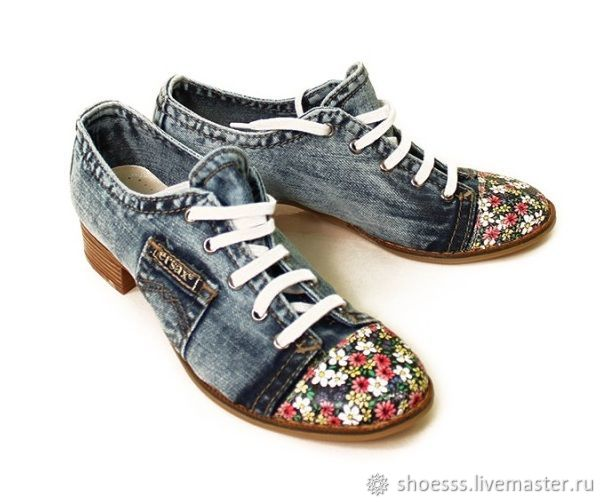 7ee193325 ручной работы. Ярмарка Мастеров - ручная работа. Купить Женские новые джинсовые  туфли 40р. ...