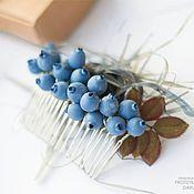 """Украшения ручной работы. Ярмарка Мастеров - ручная работа Гребень """"juicy blueberries"""". Handmade."""