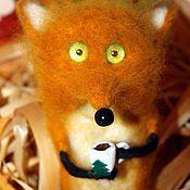 Мягкие игрушки ручной работы. Ярмарка Мастеров - ручная работа Рыжий хитрый лис. Шерсть 100%.. Handmade.
