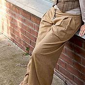 Одежда ручной работы. Ярмарка Мастеров - ручная работа Широкие брюки на кокетке. Handmade.