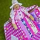 Кукольный дом ручной работы. Ярмарка Мастеров - ручная работа. Купить Домик-сумка. Handmade. Розовый, игрушка для ребенка, лён