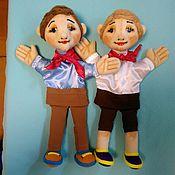 Куклы и игрушки handmade. Livemaster - original item Petrov and Vasechkin. Glove puppets. Handmade.