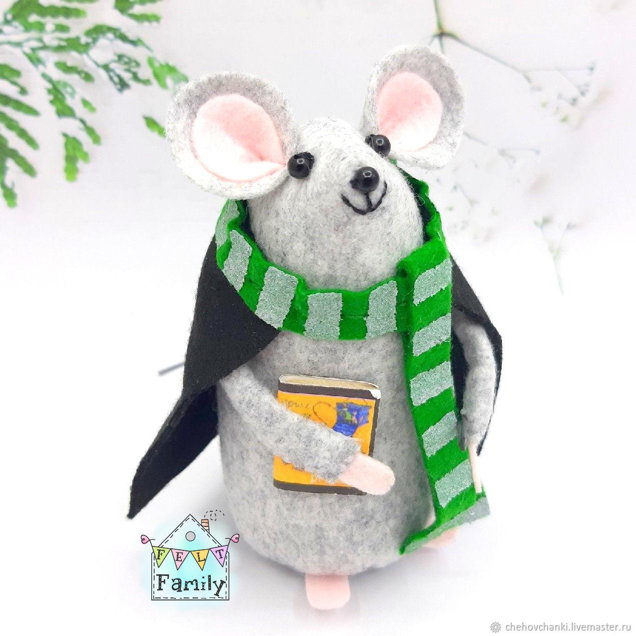 Mouse 'Draco Malfoy' - symbol of 2020. Mouse felt, Christmas gifts, Chekhov,  Фото №1
