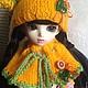 """Одежда для кукол ручной работы. Одежда для кукол """"Апельсинка"""". NK313. Интернет-магазин Ярмарка Мастеров. Одежда, вязание, для кукол и игрушек"""
