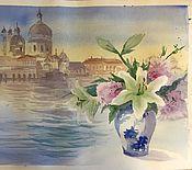 """Картины и панно ручной работы. Ярмарка Мастеров - ручная работа """"Венецианский букет"""", акварель. Handmade."""
