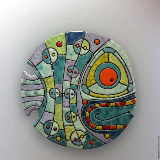 Животные ручной работы. Ярмарка Мастеров - ручная работа. Купить Керамическое панно «Большая Рыба». Handmade. Керамика, рыба