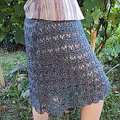 Одежда ручной работы. Ярмарка Мастеров - ручная работа Юбка вязаная из вискозы. Handmade.