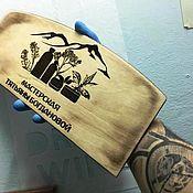 Для дома и интерьера handmade. Livemaster - original item Wooden plate (with engraving). Handmade.