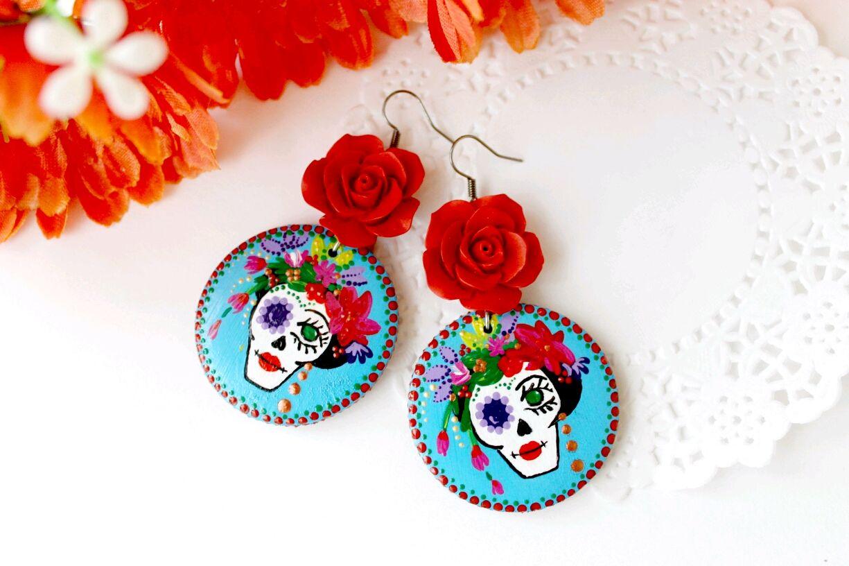 Earrings 'Dia de los Muertos', Earrings, Novopavlovsk,  Фото №1