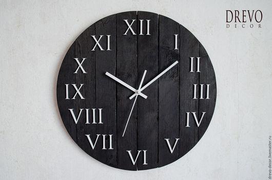 Часы для дома ручной работы. Ярмарка Мастеров - ручная работа. Купить Деревянные часы ручной работы чёрного цвета. Handmade.