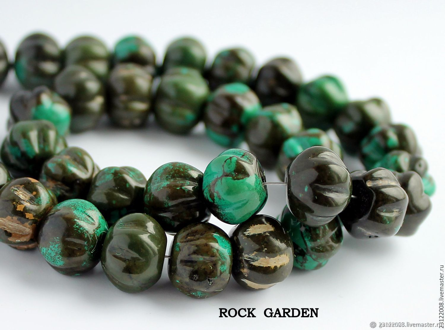 TURQUOISE green pumpkin-116, Beads1, St. Petersburg, Фото №1