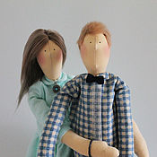 Куклы и игрушки ручной работы. Ярмарка Мастеров - ручная работа Тильда парочка влюбленных. Handmade.