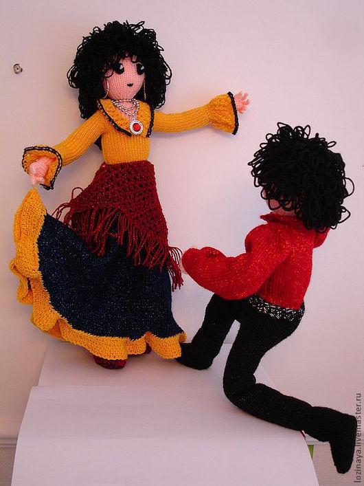 Коллекционные куклы ручной работы. Ярмарка Мастеров - ручная работа. Купить Цыганский танец. Handmade. Вязаные игрушки, подарки детям