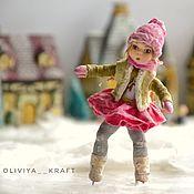 Сувениры и подарки handmade. Livemaster - original item Christmas decorations: Little skater. Handmade.