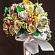 Свадебные цветы ручной работы. Ярмарка Мастеров - ручная работа. Купить Букет невесты. Handmade. Желтый, букет цветов, свадьба