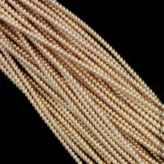 """Для украшений ручной работы. Ярмарка Мастеров - ручная работа. Купить Трунцал """"Зиг-заг"""" 1,7мм, цвет Золото, Индия. Handmade."""