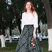 Одежда handmade. Livemaster - original item Warm boho skirt