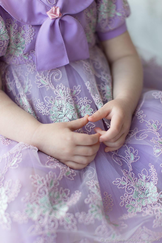 Платье из кружева Лаванда
