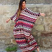 Одежда ручной работы. Ярмарка Мастеров - ручная работа Летнее макси платье, абайя, кафтан. Handmade.