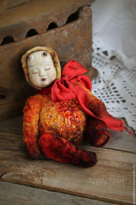 Мишки Тедди ручной работы. Ярмарка Мастеров - ручная работа. Купить Пламя. Handmade. Ярко-красный, коллекционная кукла, ооак