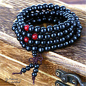 Фен-шуй и эзотерика handmade. Livemaster - original item Beads of sandalwood (black). Handmade.