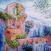 Картины и панно handmade. Livemaster - original item Oil painting landscape with the Bright rays. Handmade.