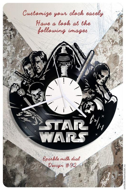 """Часы для дома ручной работы. Ярмарка Мастеров - ручная работа. Купить Часы из пластинки """"Звёздные войны 7"""". Handmade."""