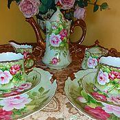 Наборы посуды ручной работы. Ярмарка Мастеров - ручная работа Фарфоровый старинный винтажный набор в стиле Прованс. Handmade.