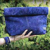 """Клатч из натуральной замши """"Blue"""""""