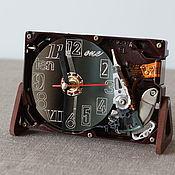 Для дома и интерьера handmade. Livemaster - original item Clock from hard disk №16 (Umbra Numbra). Handmade.