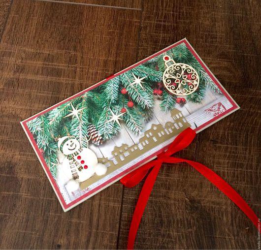 Открытки к Новому году ручной работы. Ярмарка Мастеров - ручная работа. Купить Открытка со снеговиком. Handmade. Бумага для скрапбукинга