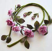 Аксессуары ручной работы. Ярмарка Мастеров - ручная работа Пояс розы 2. Handmade.